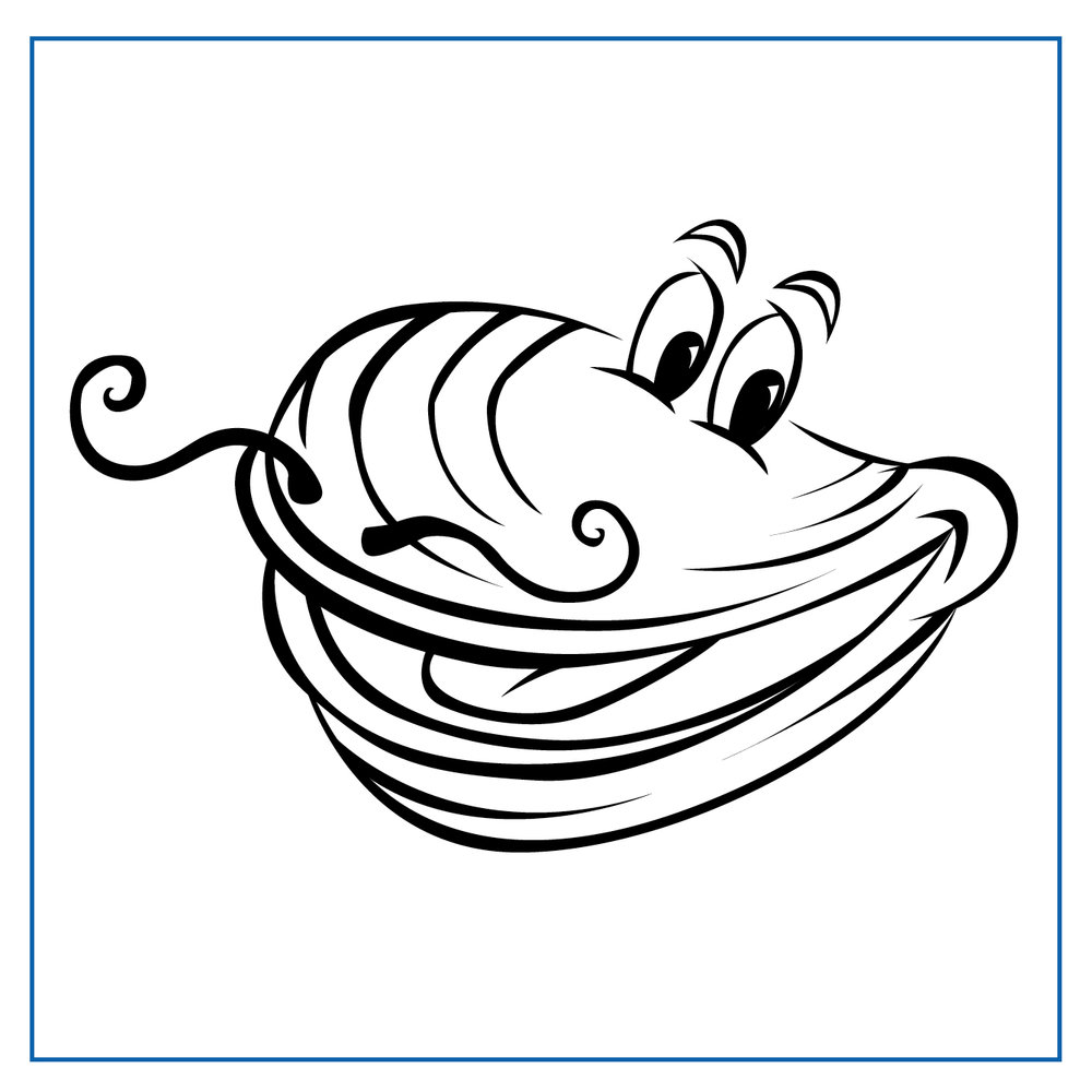 Marcel Mussel - Click on my picture to print me out and colour me in
