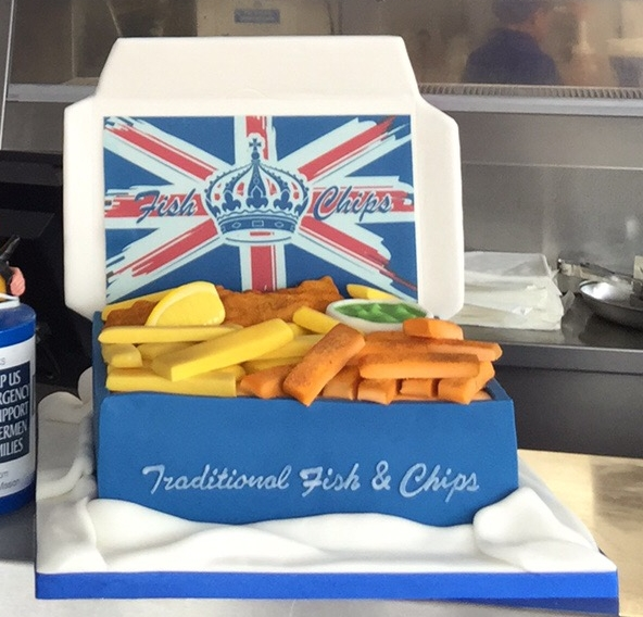 Our Fish & Chip Cake in 2016 turned into a social media star! It tasted great too!!