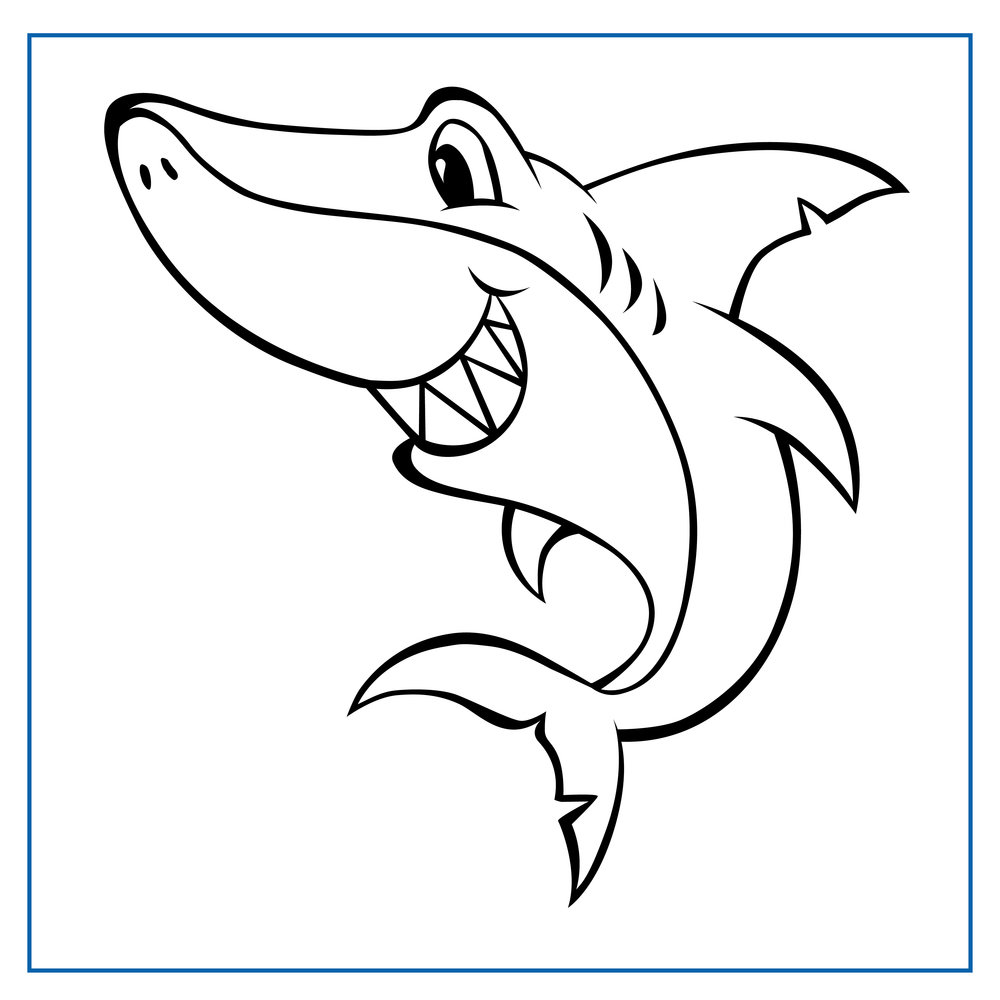 Taylor Tiger Shark - Click on my picture to print me out and colour me in
