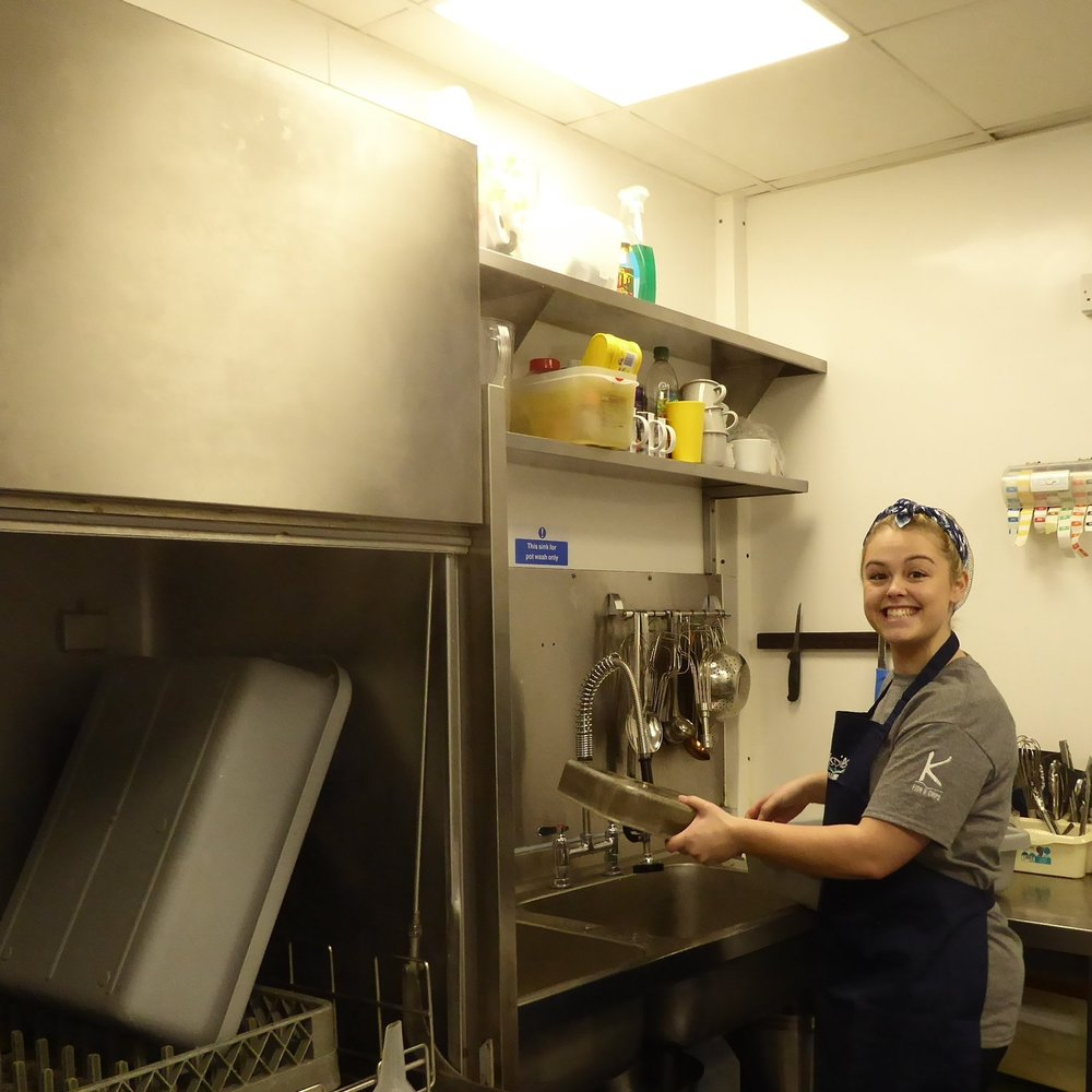 Megan loves her job, even the washing up! The apprenticeship means she can fry, serve and learn about business all at the same time.
