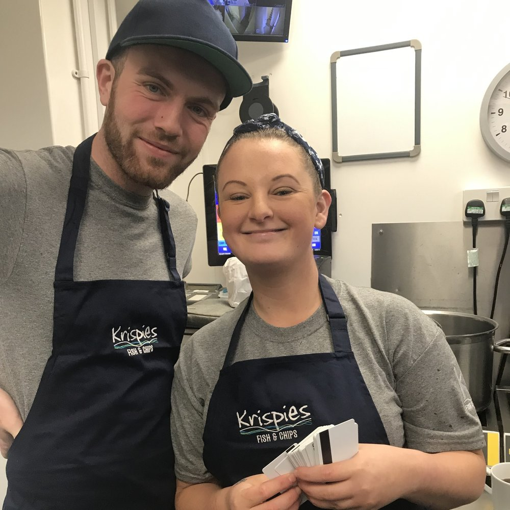 There are lots of opportunities for young people looking for a career in catering at Krispies.