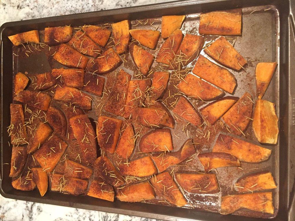 Cajun-style sweet potatoes