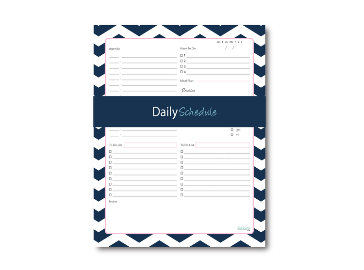 Daily Schedule Notepad (Chevron)