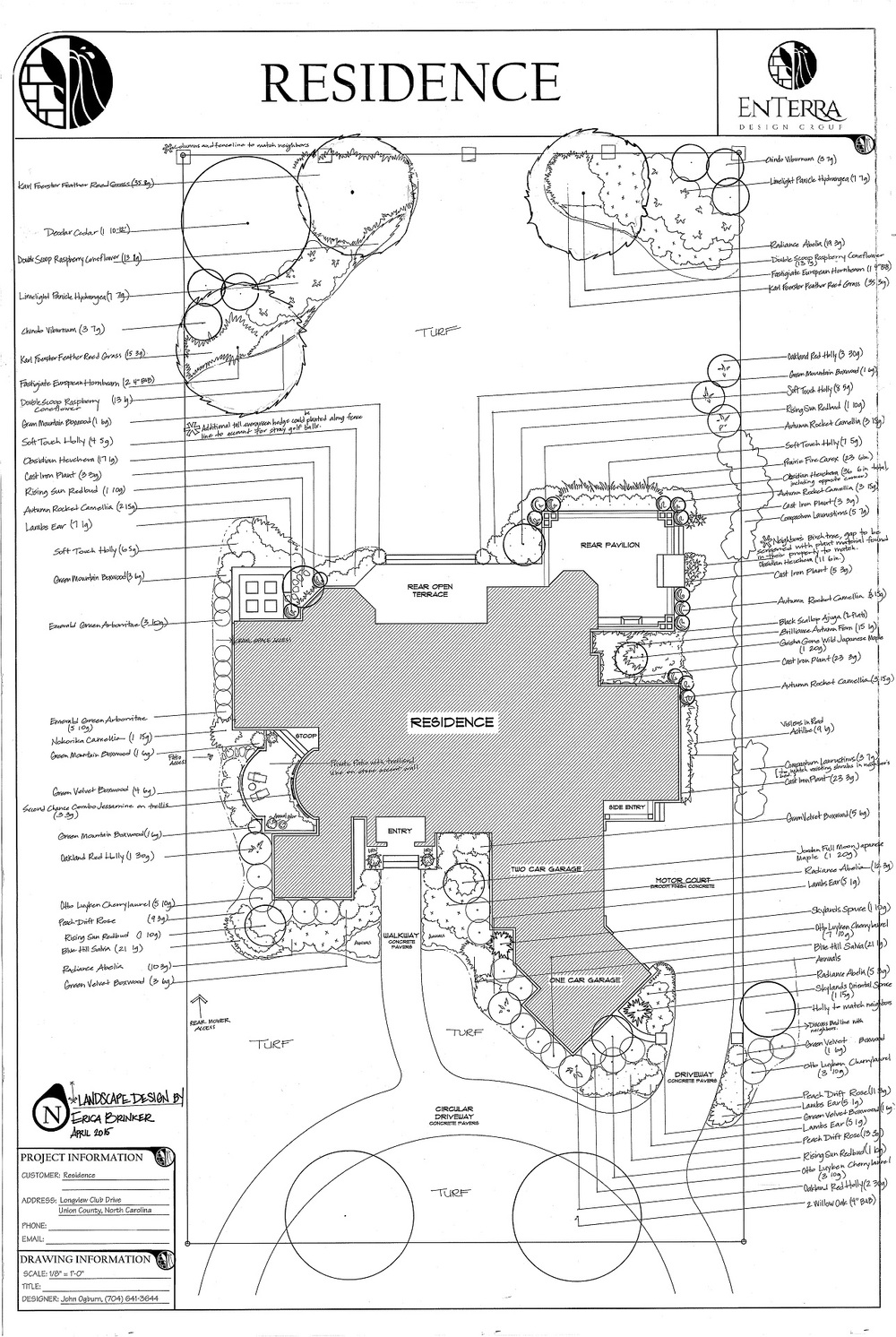 EnTerra Design - Landscape Plan