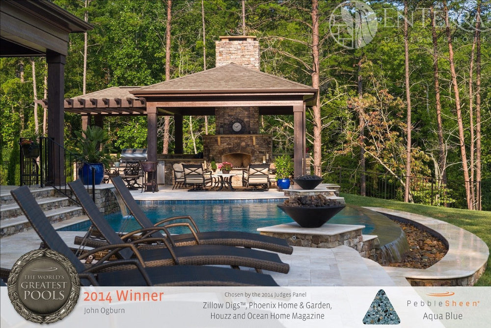 This project design won prestigious recognition by being selected as one of the  World's Greatest Pools , a  Pebble Technology International  Award.