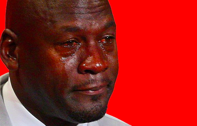 The Notorious Michael Jordan Cry Face