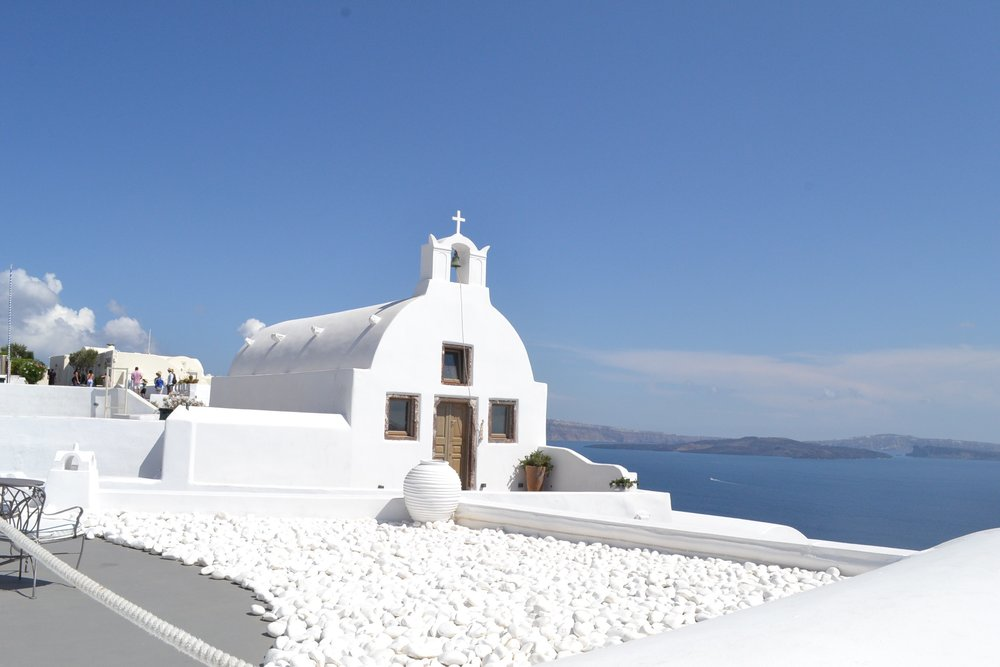 small church in Oia, Santorini