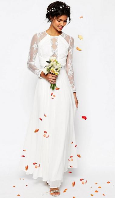 Asos Bridal lace panel maxi dress £120.