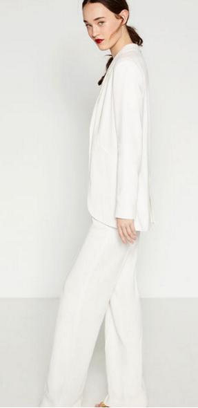 Zara suit. Jacket £69.99 Trousers £39.99