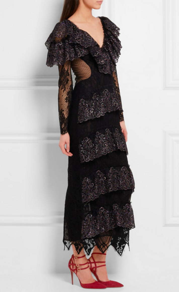 Alessandra Rich Metallic Lace Gown £1575