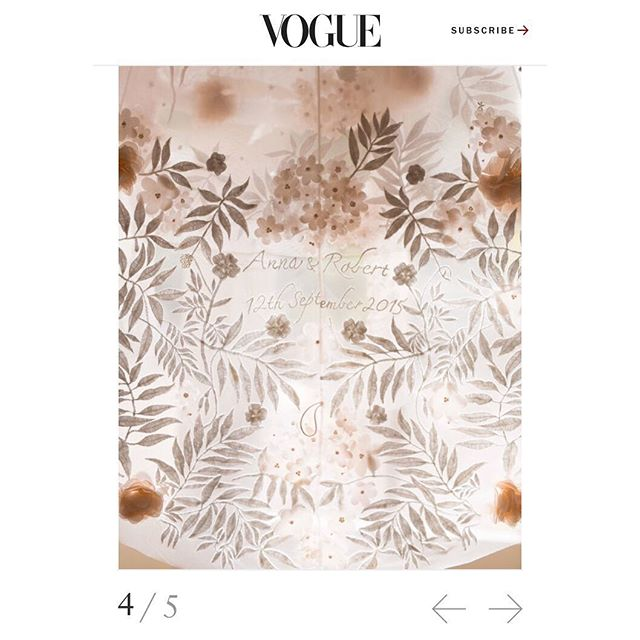 When your wedding dress is featured on @voguemagazine 🙌🏻🤩