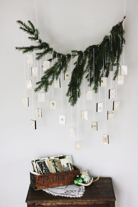 - At Trim Spaces, we love functional decorations. This Christmas Card Garland is the perfect way to display all of your Christmas Cards right along with your decorative garlands!