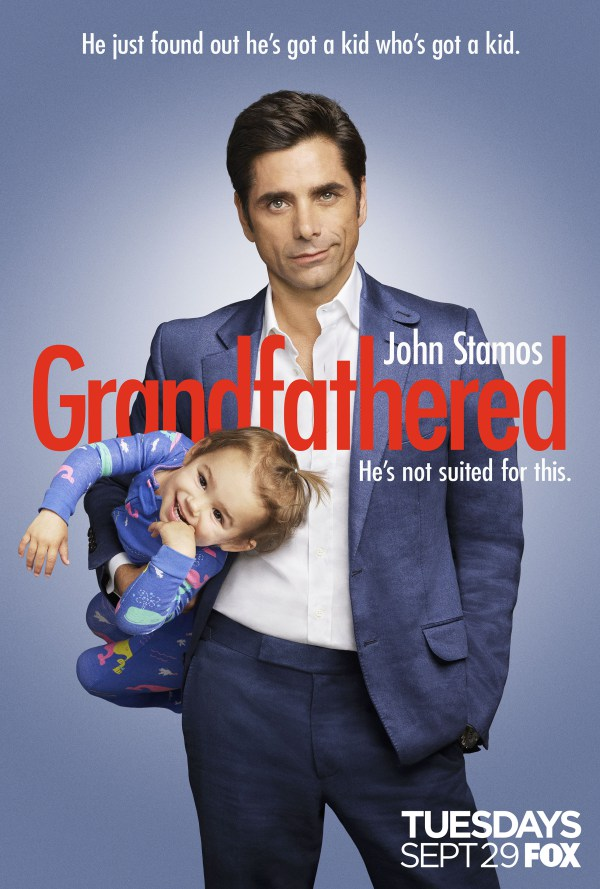 Grandfathered  : TUESDAY nights at 8:30/7:30c on FOX. Watch full episodes online ANYTIME here:   http://www.fox.com/grandfathered/full-episodes  . See more of Grandfathered on the official site:   http://fox.tv/Grandfathered  .
