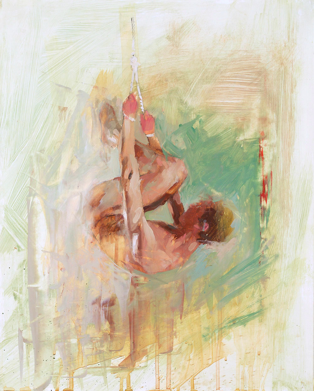 Hang Study No. 1   20 x 16 inches  oil on TerraSkin - SOLD