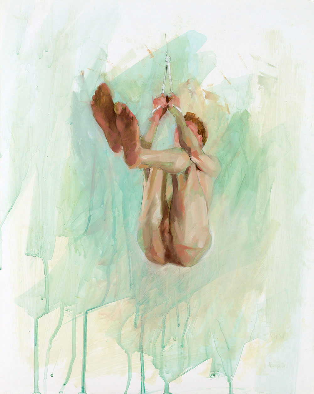 Hang Study No. 2   20 x 16 inches  oil on TerraSkin