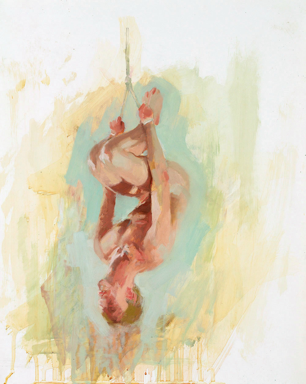 Hang Study No. 3   20 x 16 inches  oil on TerraSkin