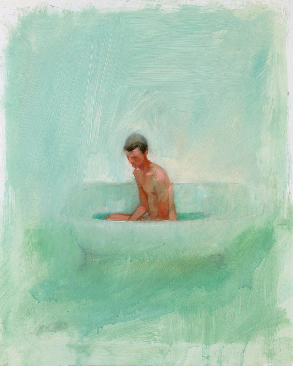Bath Study No. 2   20 x 16 inches  oil on TerraSkin