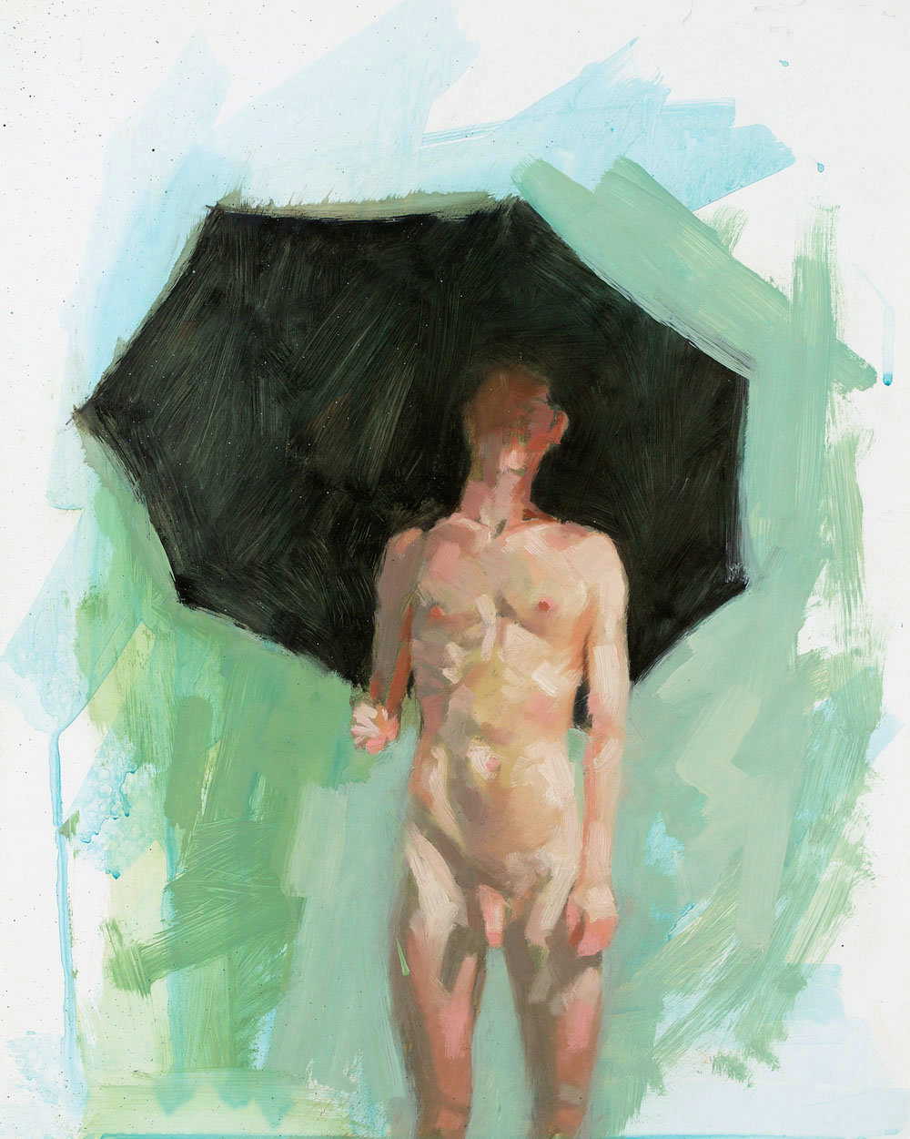 Umbrella Study No. 2   20 x 16 inches  oil on TerraSkin