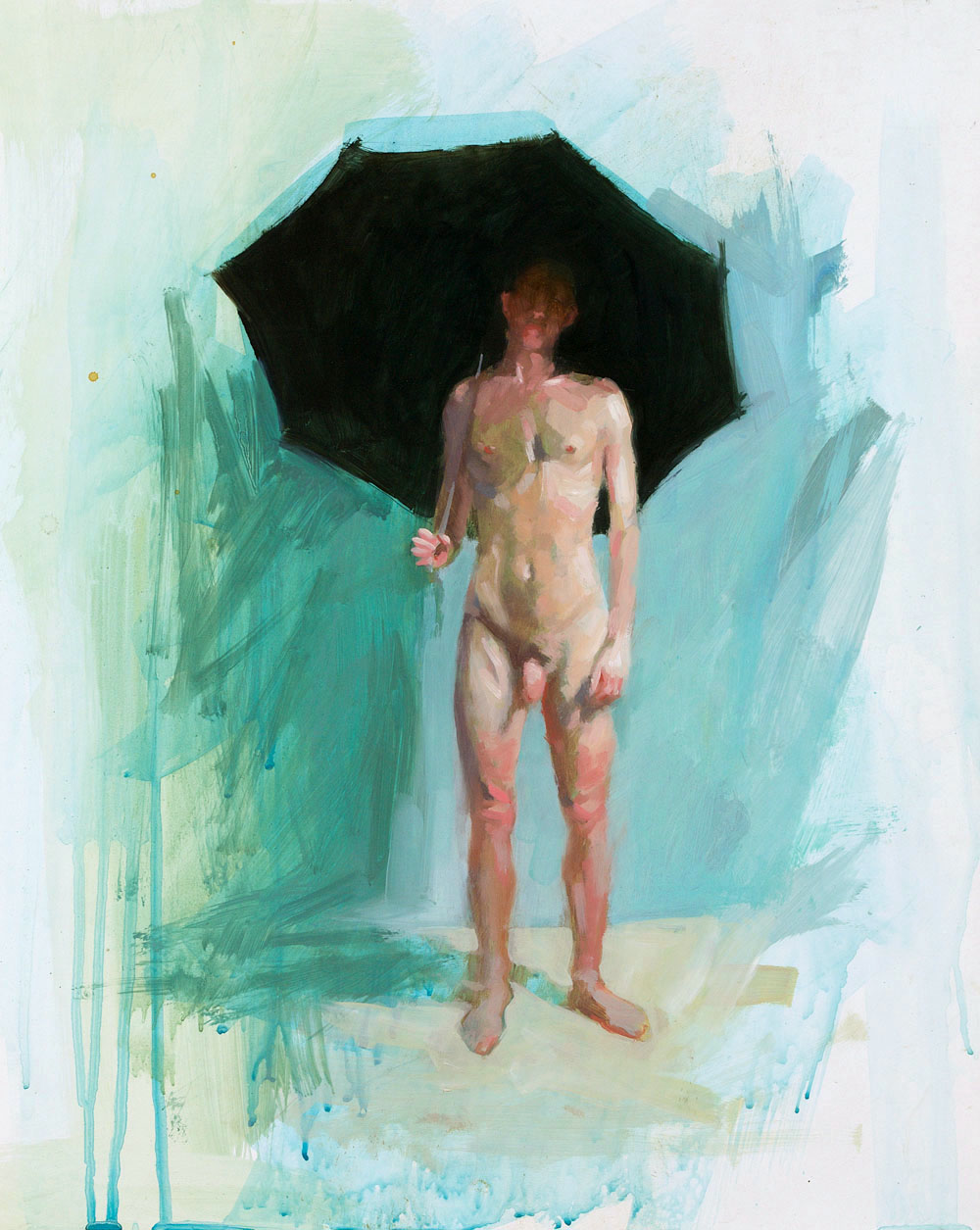 Umbrella Study No. 1   20 x 16 inches  oil on TerraSkin