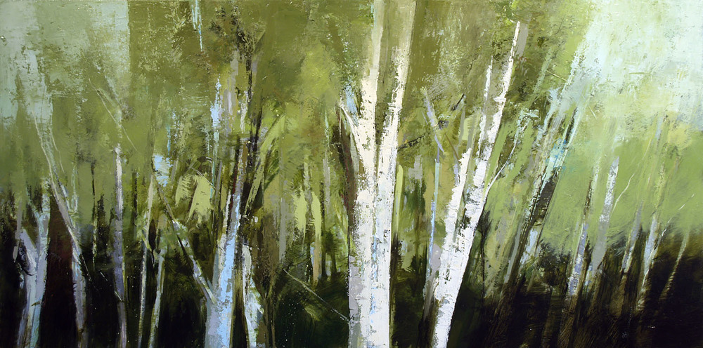 Forest for the Trees III   30 x 60 inches  oil on canvas - SOLD