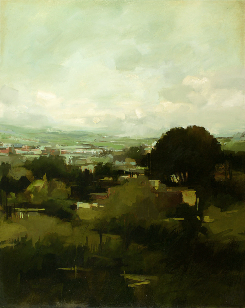 Overland I   60 x 48 inches  oil on canvas