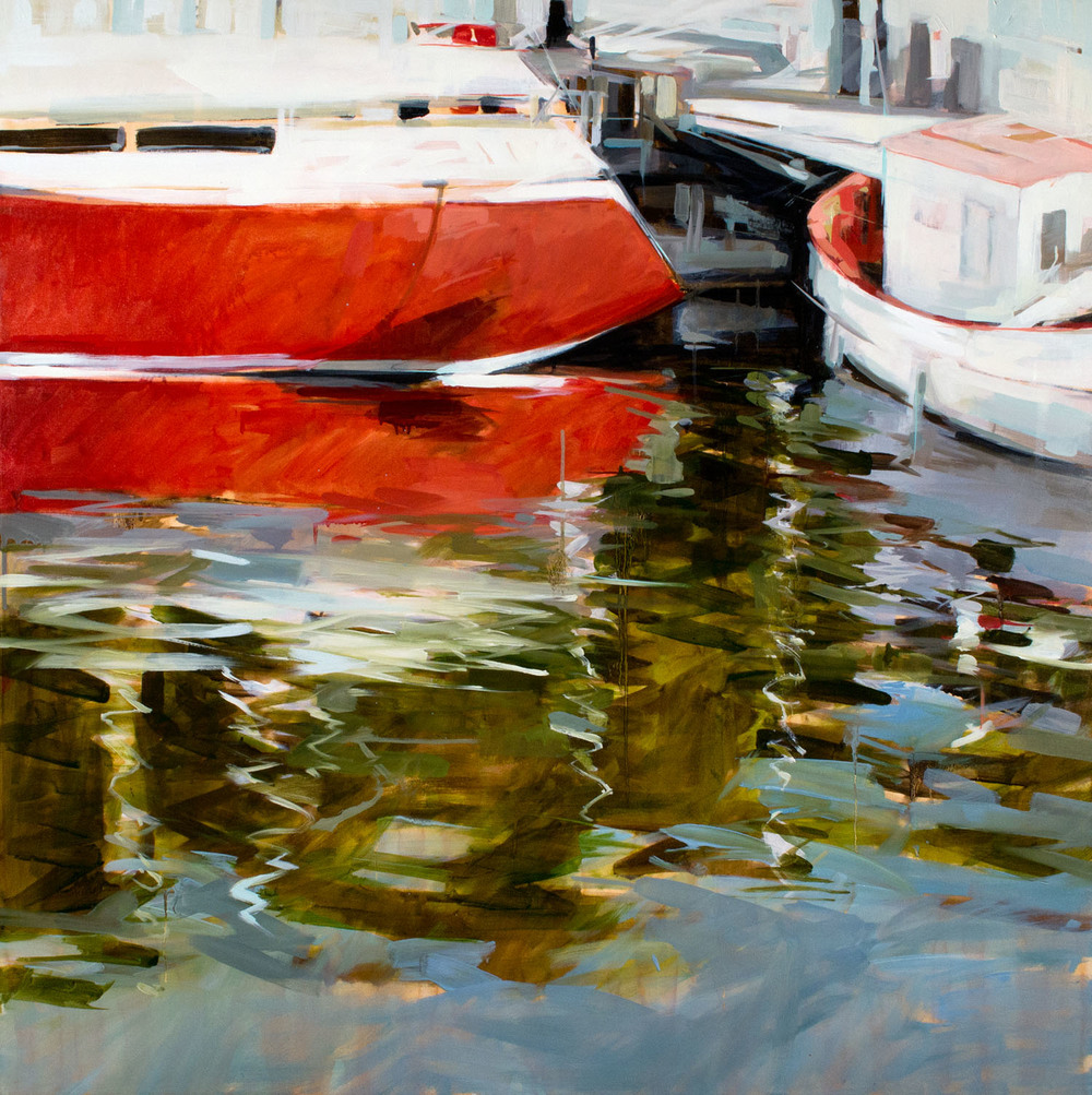 Reflect   48 x 48 inches  oil on canvas - SOLD