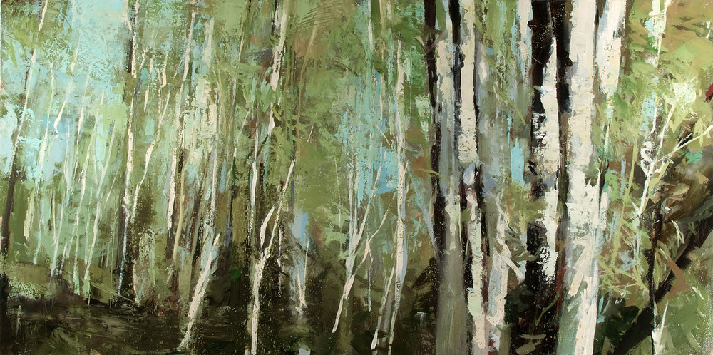 Forest for the Trees II   30 x 60 inches  oil on canvas - SOLD
