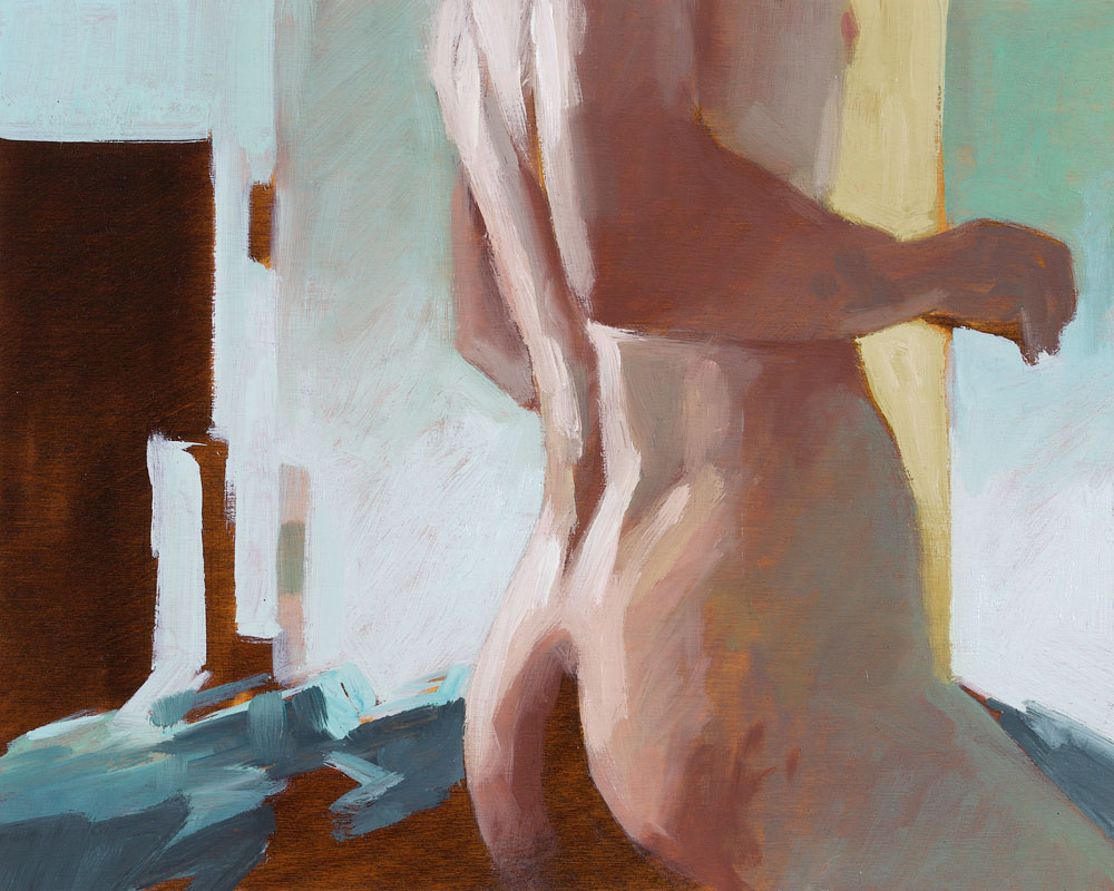 Screen Grab No. 5   8 x 10 inches  oil on panel