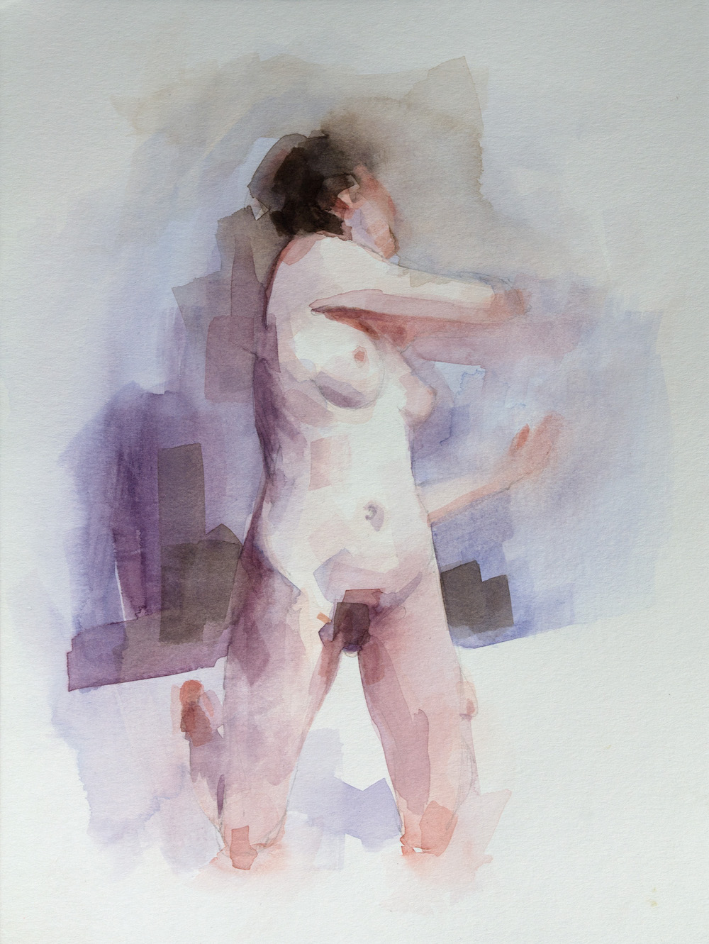 Figure study   12 x 9 inches  watercolour on paper