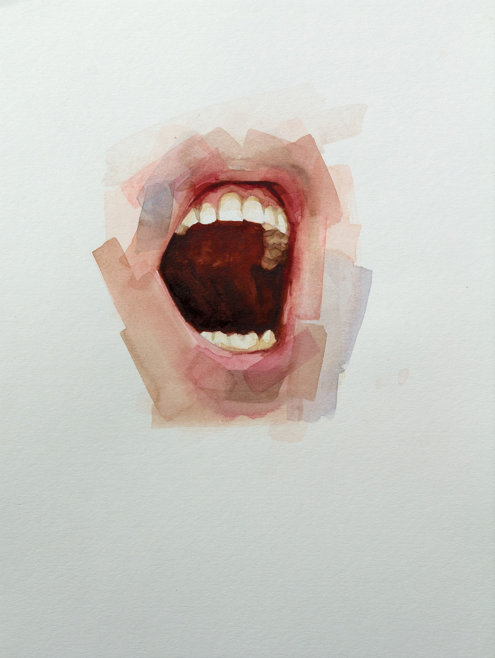 Mouth study   12 x 9 inches  watercolour on paper - SOLD