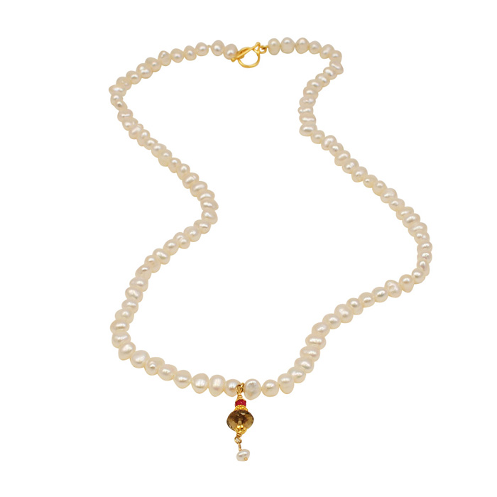 White Pearls with Signature Drop