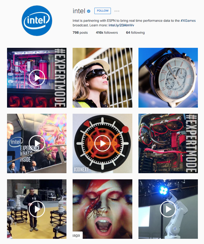 Intel Instagram