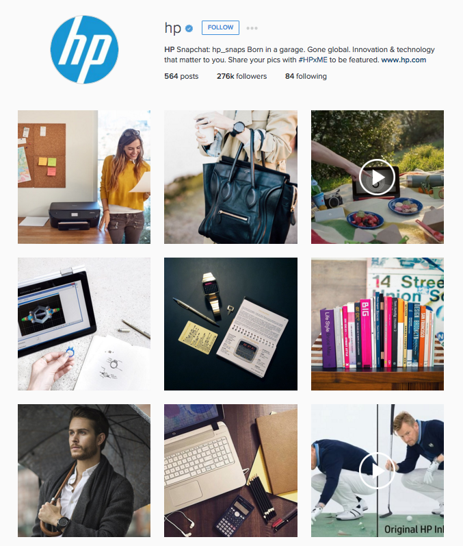 HP instagram