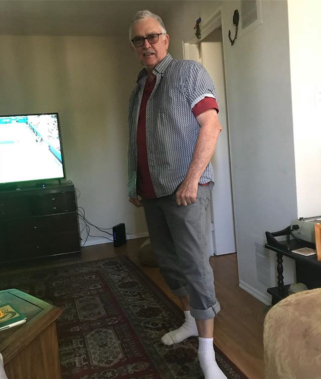 "On our way to @littledomsla. Read the Zagat review to my parents and it said it was ""hipster heaven."" My dad decided to dress like a hipster to fit in. I told him he looked more like ""Sears catalog 1992"" but it's a moot point cuz he was too embarrassed to wear it and already changed back to his normal attire-speedos and Pope hat."