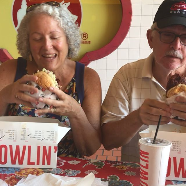 My parents didn't come to LA to go the fucking beach. @howlinrays and cronuts all day every day.