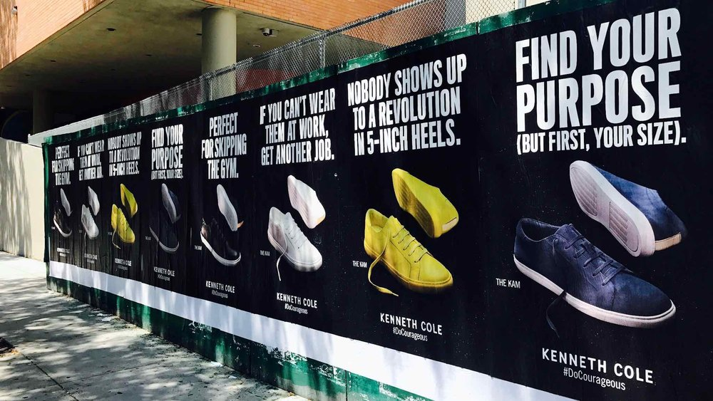 OMG | Guerilla Marketing | Wild Posting | Kenneth Cole | Find your purpose