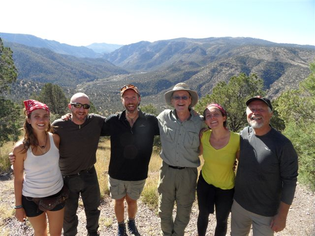 *my Vision Quest fellows after the solo time,which took place right in this beautiful valley behind us ;)