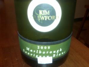Mid-bottle enjoyment... Kim Crawford Sauvignon Blanc