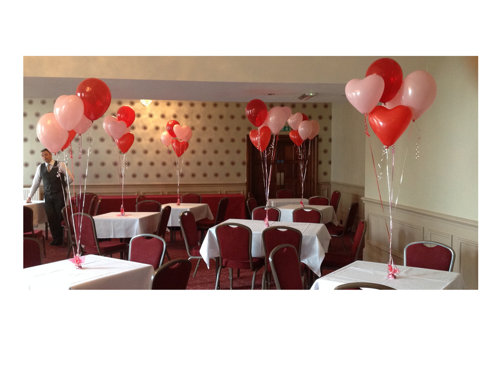 Engagement party helium balloons