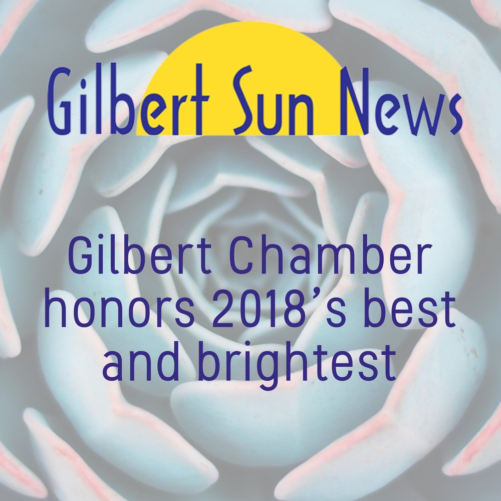 Stacey Coronado won Gilbert Chamber of Commerce's  Businesswoman of the Year  award in 2018.