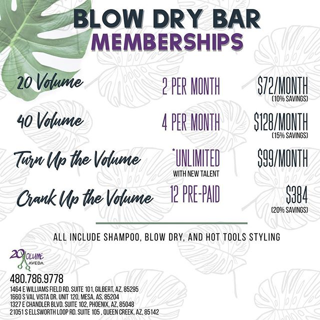You asked, we delivered. Introducing, blow dry bar memberships! Any unused blow dry on the non-unlimited plans can be rolled over to the following month. You also get a COMPLIMENTARY 🎂 birthday 🎂 blowout!