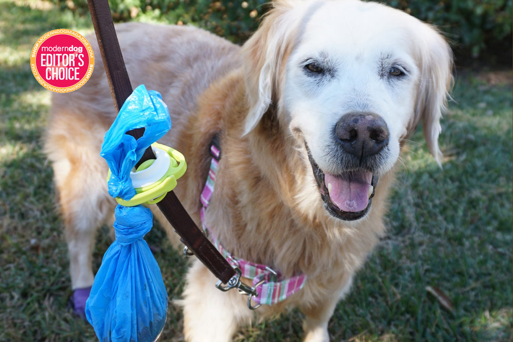 The Fifth Paw allows dog owners to walk their dogs without the stress and annoyance of juggling multiple poop bags.