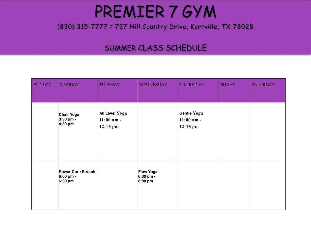 CHECK OUT OUR NEWEST SCHEDULE FOR 2016! ONLY $15.00 EACH FOR THE 30 MINUTE BLAST CLASS! GET IN AND OUT AND ENJOY LIFE!