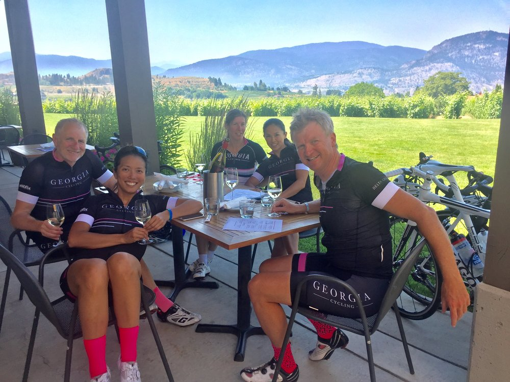 Coffee stop? More like winery stop here in the Okanagan!