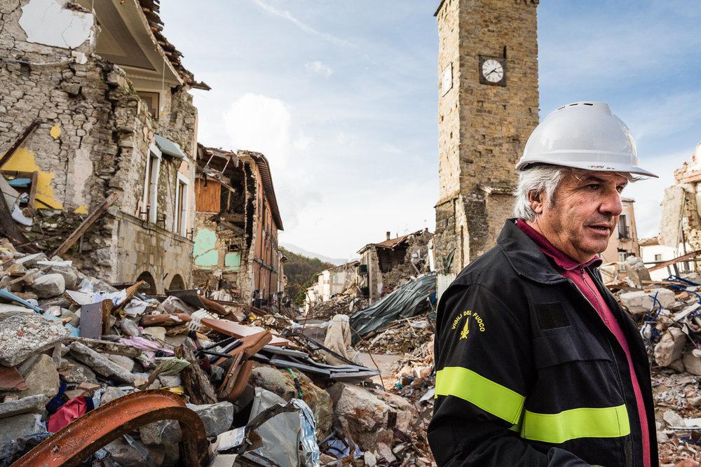 Rika Vanhove, De Morgen Magazine, Spaghetti for Amatrice, Amatrice, Earthquake, Fireman Ferdinando.jpg