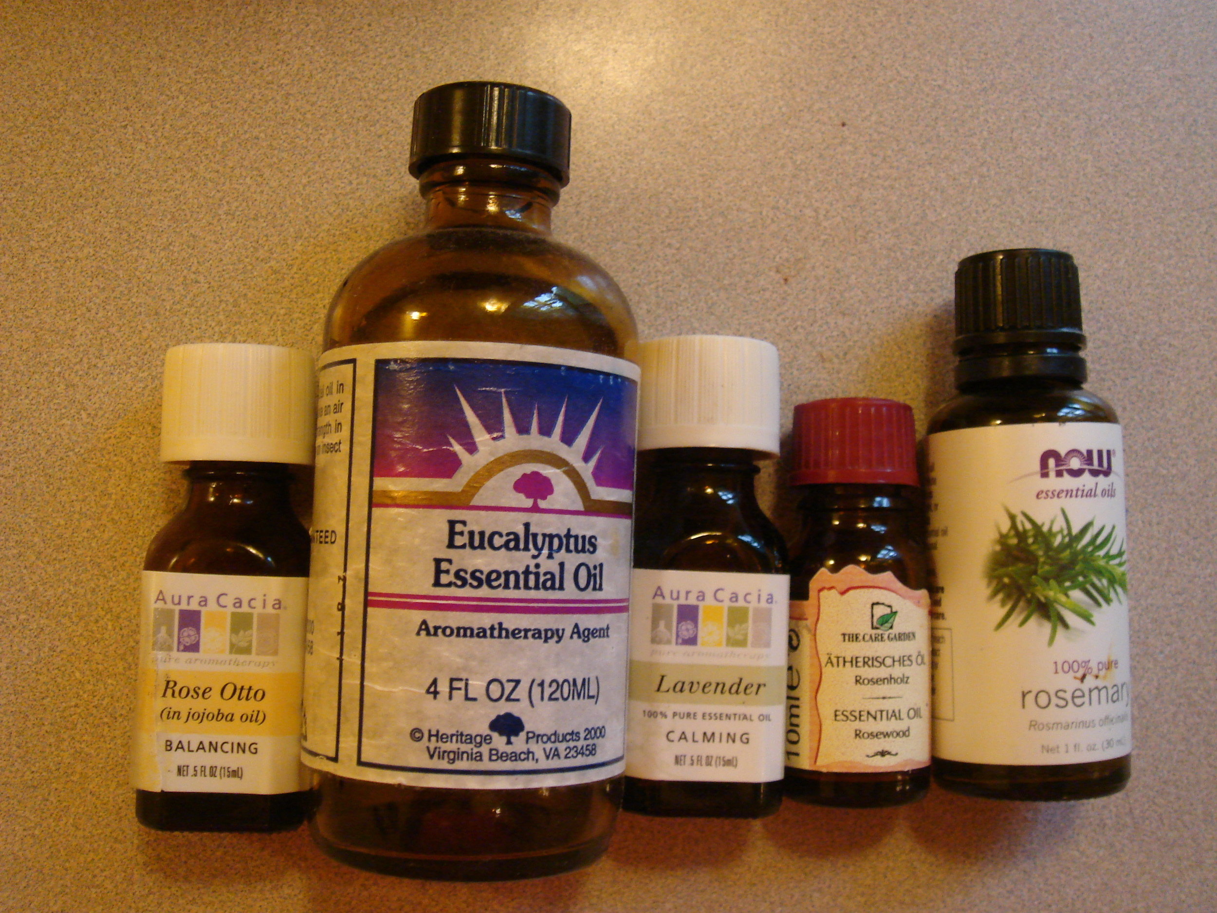 various essential oils