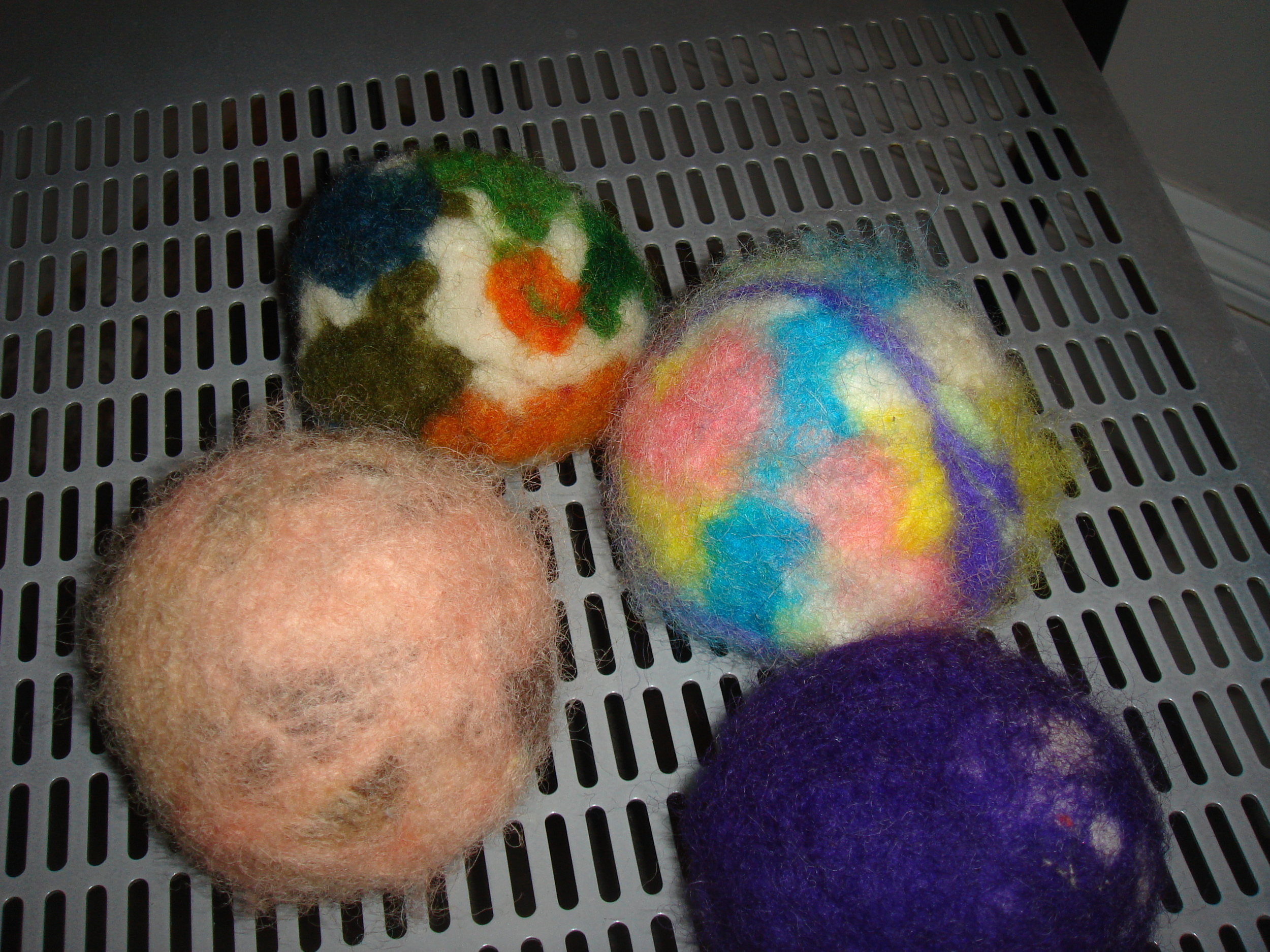 handmade felt balls my children made