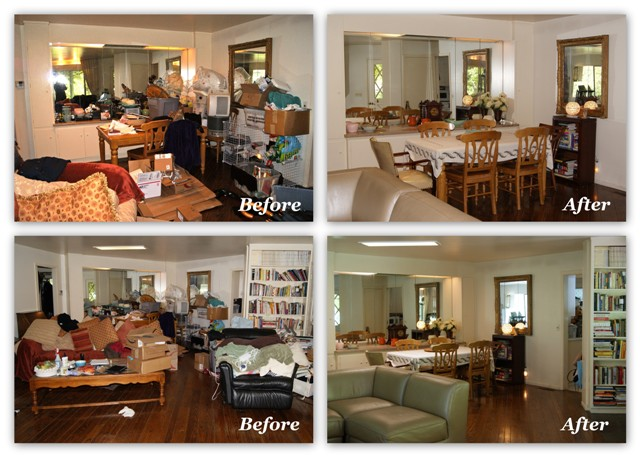 clutter-before/after orgjunkie.com