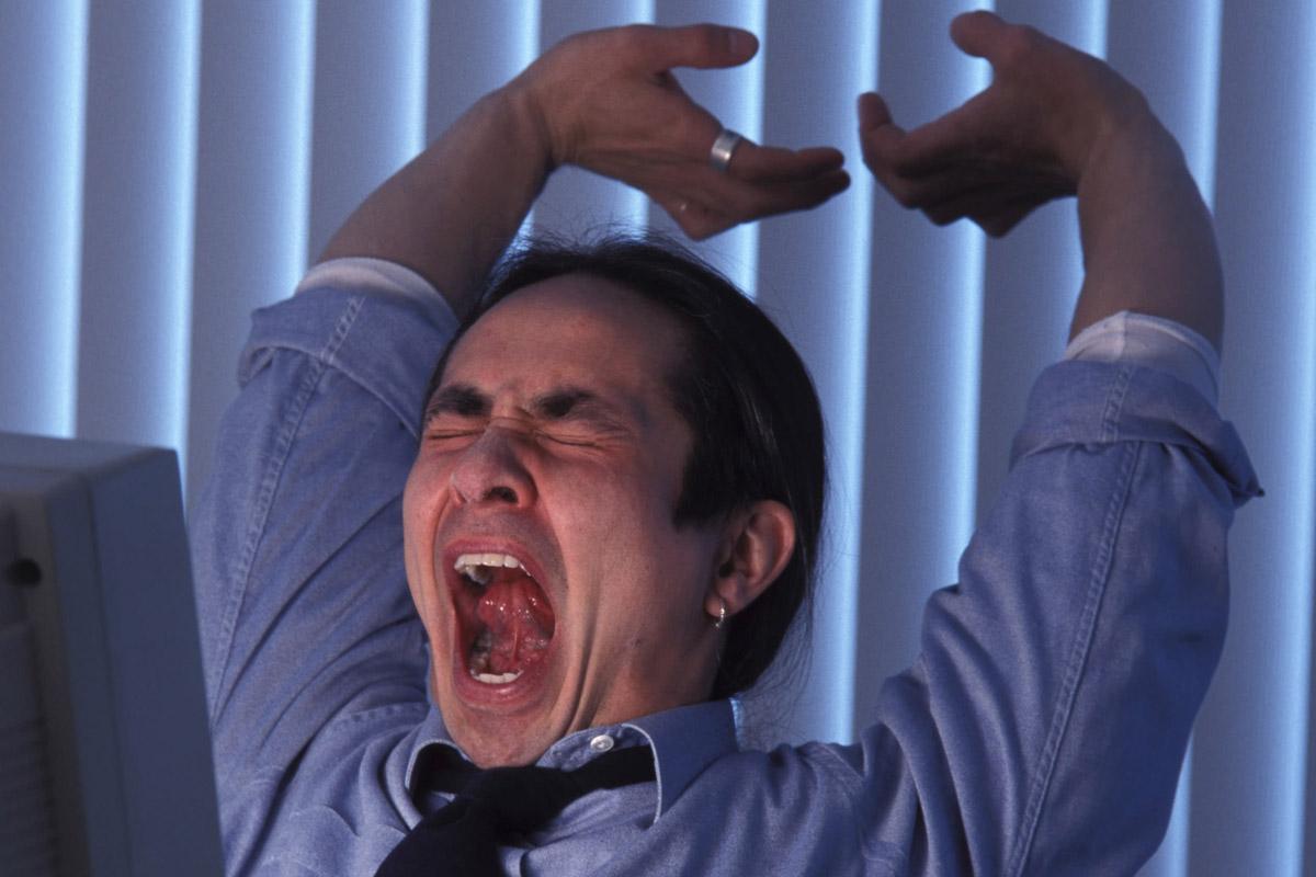 man-yawning
