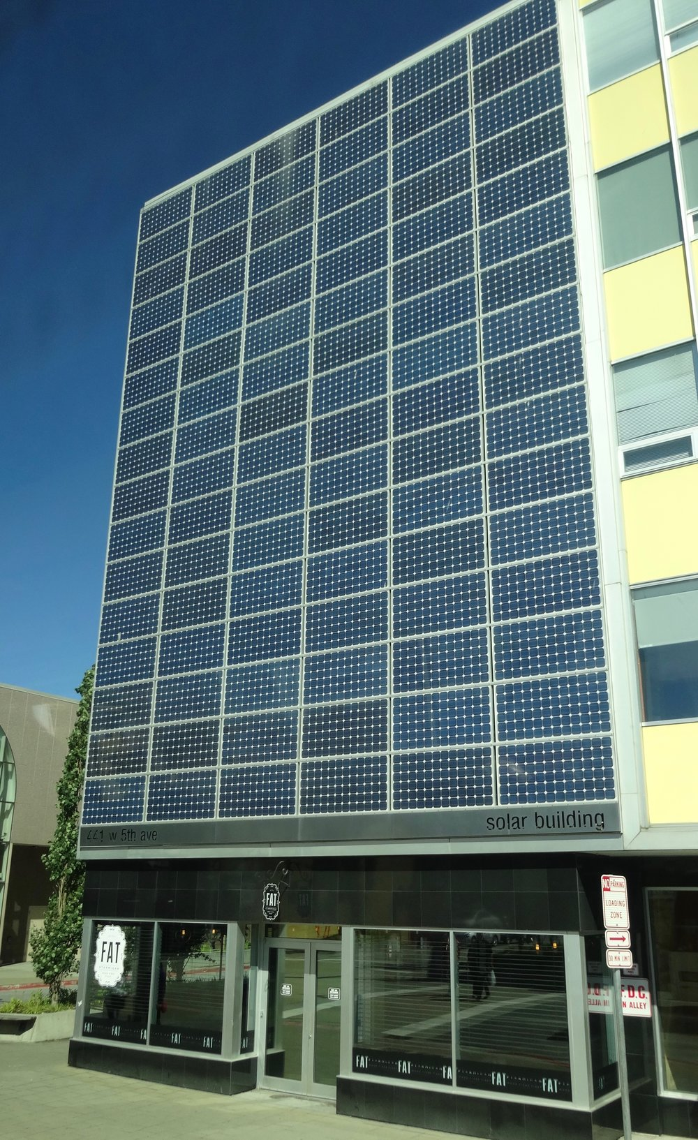 solar façade in downtown Anchorage - photo by SMF